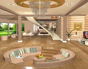 hall interior design 3D model