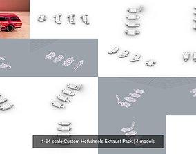 3D 1-64 scale Custom HotWheels Exhaust Pack