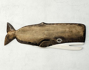 Hand-Carved Whale Wall Art 3D