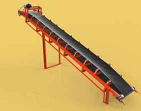 INDUSTRIAL BELT CONVEYOR coal 3D