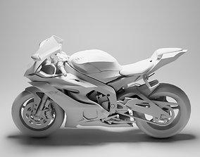 Yamaha R6 3D model game-ready PBR biker