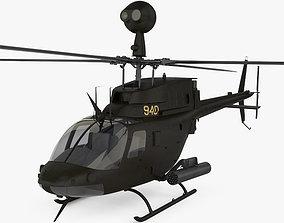 3D model Bell OH-58 Kiowa