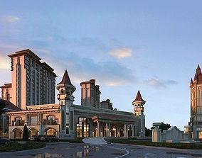 Classical Villa Resort 3D