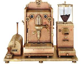 3D model Steampunk copper coffee machines