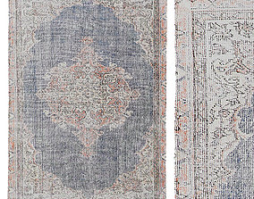 Urban Outfitters Stella Printed Rug 3D model
