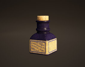 Ink Bottle Game Ready 3D model