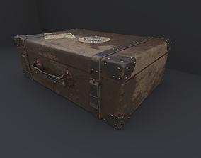 3D model realtime Vintage suitcase