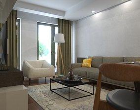 interior Living Room Sketchup Vray Next V2 3D model