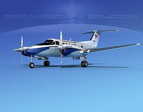 Beechcraft UC-12Q Huron V11 US GOV 3D model