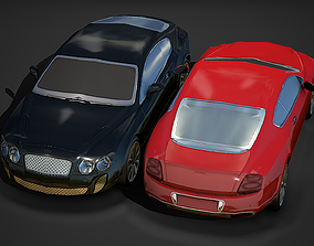 3D model Modern Sportcar 01 Low Poly Mobile Ready