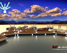 water lunge pavilion 3D model game-ready