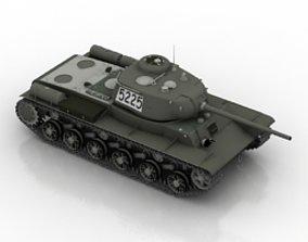 Ww2 tank KV 85 3D model