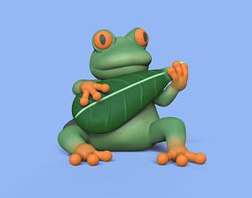 3D print model Musician Frog