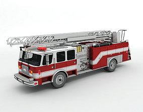 Fire Ladder Truck 3D model