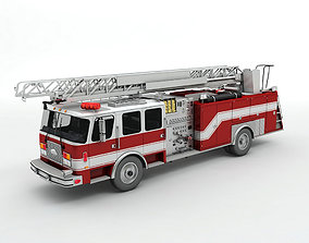 Fire Ladder Truck 3D model