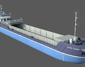 General Cargo Ship DAMEN COMBI COASTER open bay 3D asset
