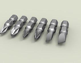 Screwdriver bit set 3D model