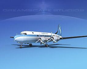 3D model Douglas DC-4 Sabena Airlines 2