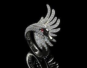 3D printable model Swan Ring 10266
