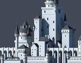 Fantasy Castle 001 3D model