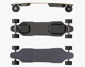 3D model Skateboard electric 01
