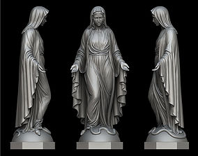 Virgin Mary Statue 3D printable model