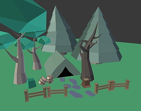 3D asset Low Poly Outdoor Pack