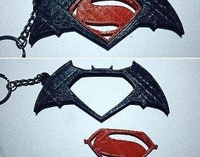 Batman v Superman Keychain 3D print model