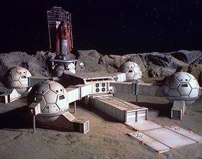 3D print model ufo moonbase