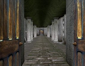 3D asset Old catacombs interior