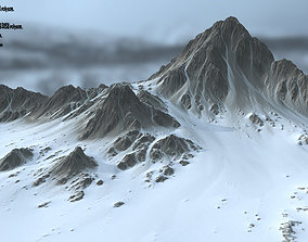 mountain 3D asset realtime Snow Mountain