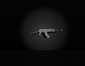 Low poly Ak-74 3D asset