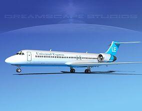 3D Boeing 717-200 Universal Express