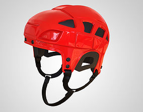 Ice Hockey Goalie Helmet 3D Print High Detail