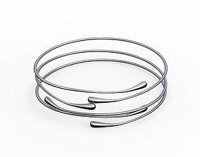 Silver Bracelet Waterdrop design 3D model
