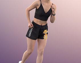 3D asset 11360 Anita - Sporty Asian girl jogging fitness