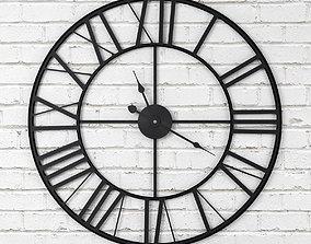 3D model Wall Clock Cast Iron - Roman Numbers