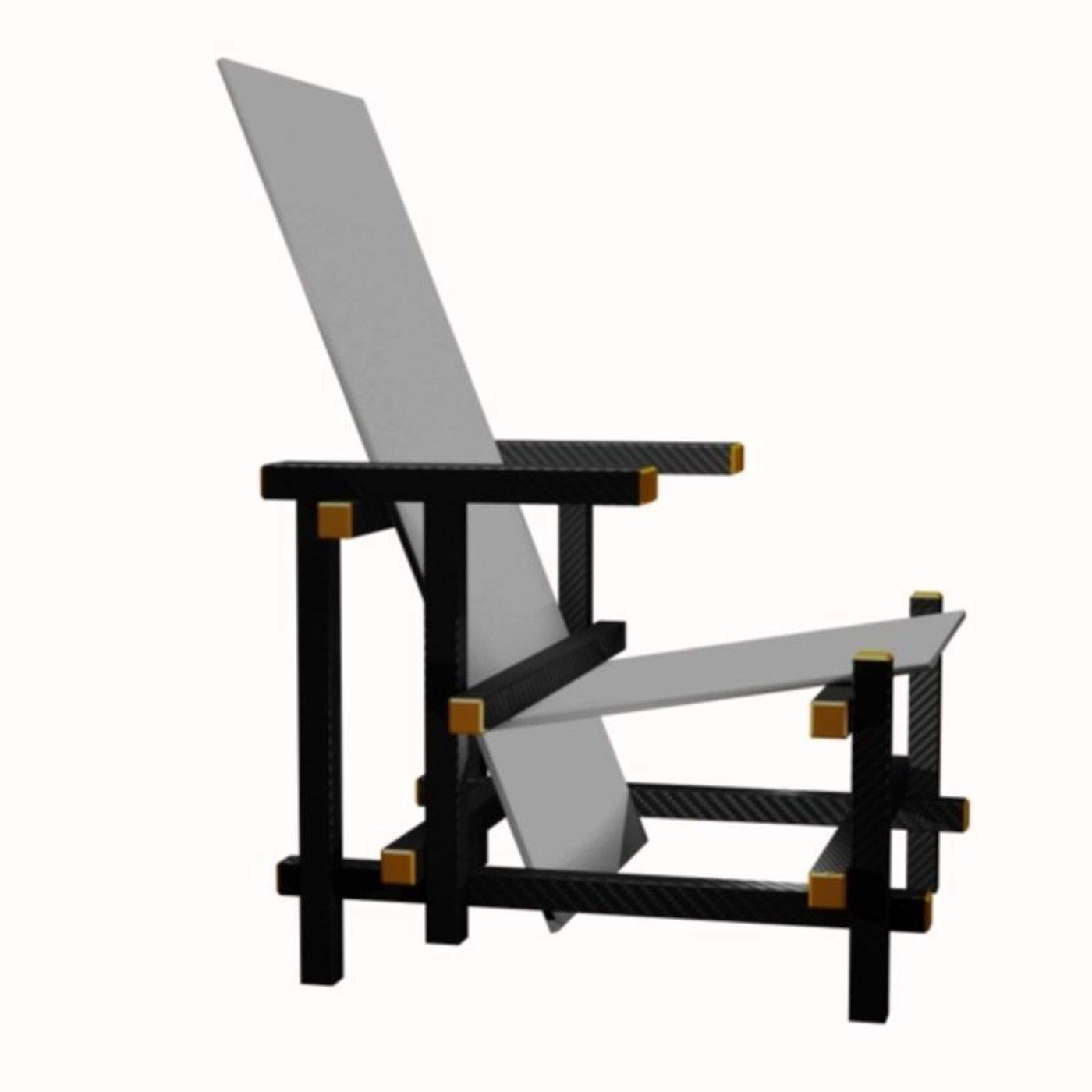 the Piet Mondrian chair in white