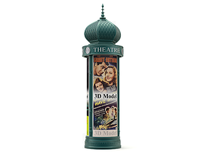 Advertising Column 3D model
