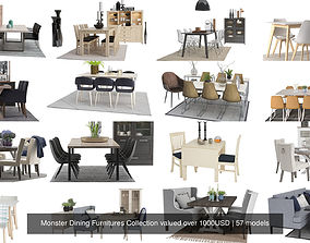 3D model Monster Dining Furnitures Collection valued over