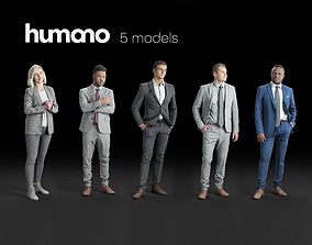Humano 5-Pack - OFFICE - BUSINESS MEETING - 5x 3D 1