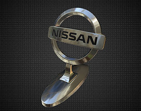 nissan hood ornament 3D model
