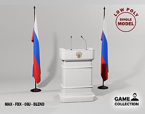 3D model Russian Presidential Podium