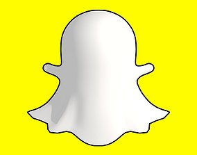 Snapchat Ghost 3D asset