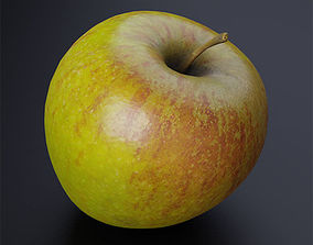 VR / AR ready Coxs Orange Pippin apple low-poly 3D model