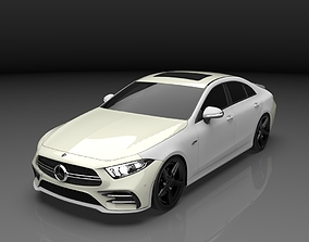 Mercedes Amg CLS53 2019 3D model game-ready