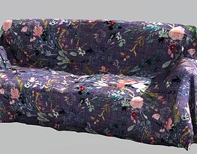 Covered Couch sofa 3D asset