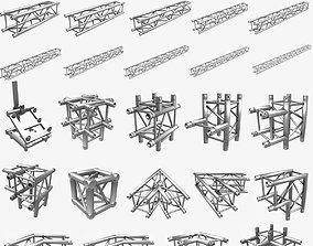Square Truss Standard 25 Modular Pieces 3D print model