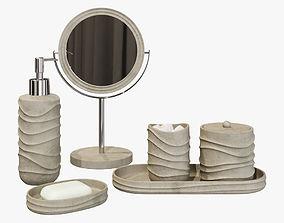 Wavy Beach Faux Sand Bath Accessories 3D model