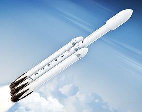 3D asset Falcon Heavy Rocket